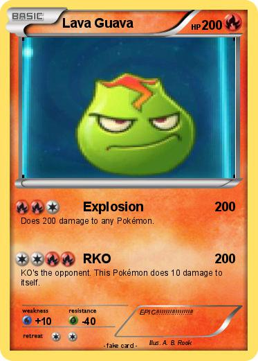 Gava Juice Toy : Pokémon lava guava explosion my pokemon card