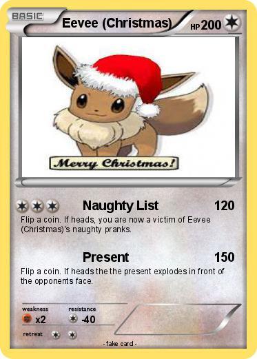 Christmas Eevee.Pokemon Eevee Christmas