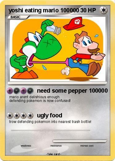 Pokémon yoshi eating mario 100000 100000 - need some ...