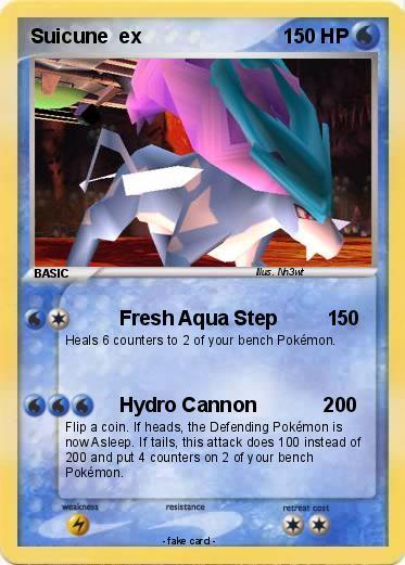 pok233mon suicune ex 58 58 fresh aqua step 1 my pokemon card