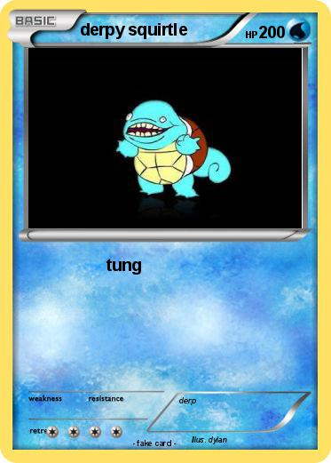 Pok mon derpy squirtle 21 21 tung my pokemon card - Derpy squirtle ...