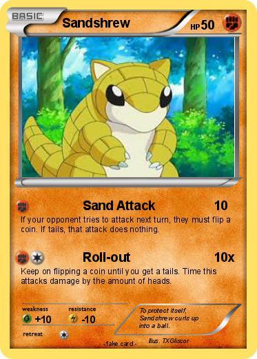 Sandshrew Pokemon Card Images