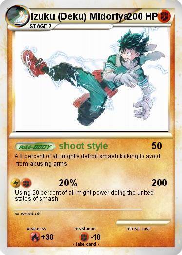Pokemon Izuku Deku Midoriya
