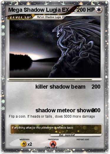 Pokémon Mega Shadow Lugia EX - killer shadow beam - My ...