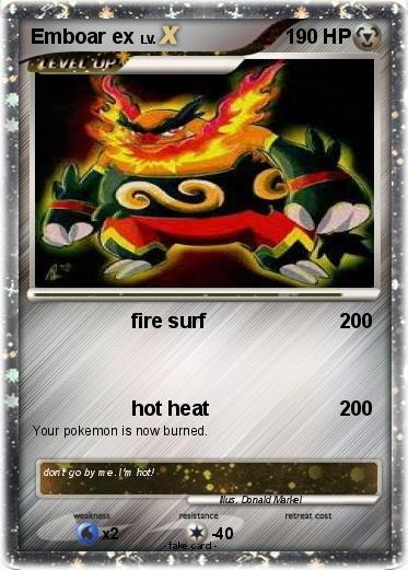 Pokemon Emboar Ex Card Images | Pokemon Images