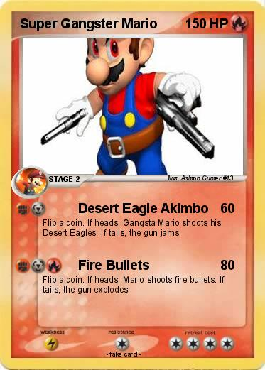 Pok 233 Mon Super Gangster Mario Desert Eagle Akimbo My
