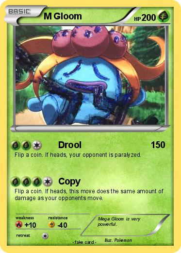 Pokémon M Gloom - Drool - My Pokemon Card