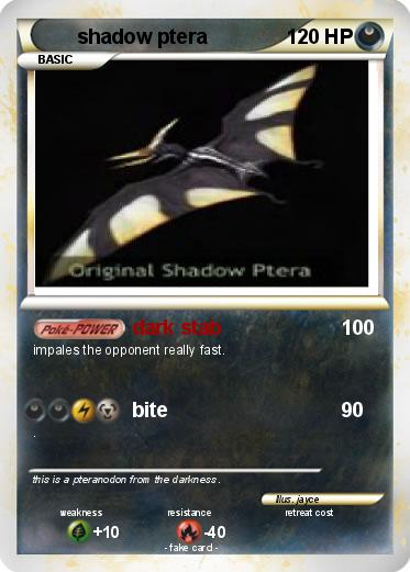 Pok mon shadow ptera dark stab my pokemon card - Pokemon ptera ...