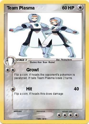 Pok mon team plasma 20 20 growl my pokemon card - Carte pokemon team plasma ...