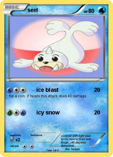 Seel Pokemon Card Images