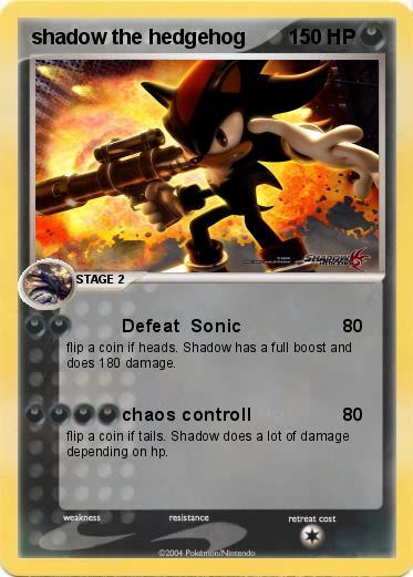 Pok mon shadow the hedgehog 39 39 defeat sonic my - Shadow the hedgehog pokemon ...