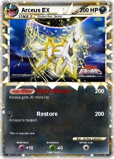 Pokemon Arceus Ex Card Images | Pokemon Images