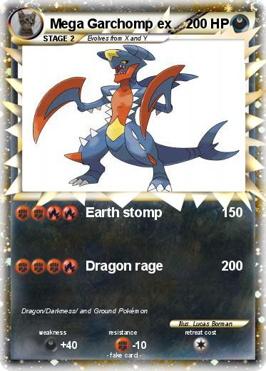 Pokémon Mega Garchomp ex 1 1 - Earth stomp - My Pokemon Card