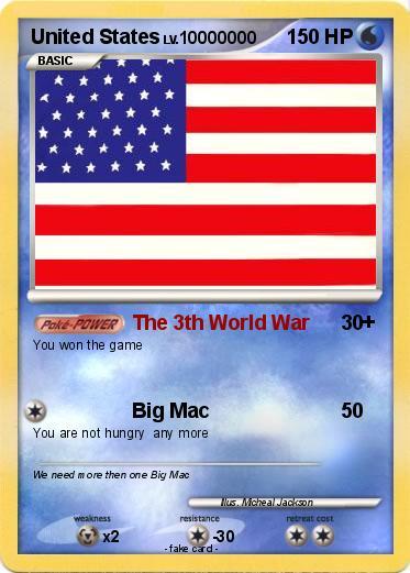 Pokémon United States - The 3th World War - My Pokemon Card