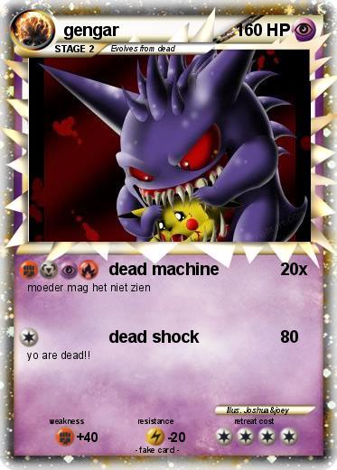 Pokémon gengar 138 138 - dead machine - My Pokemon Card