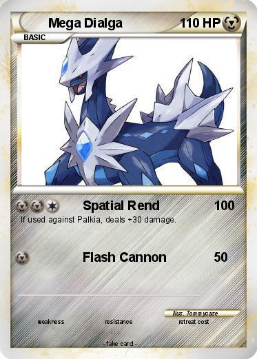 Pokémon Mega Dialga 29 29 - Spatial Rend - My Pokemon Card