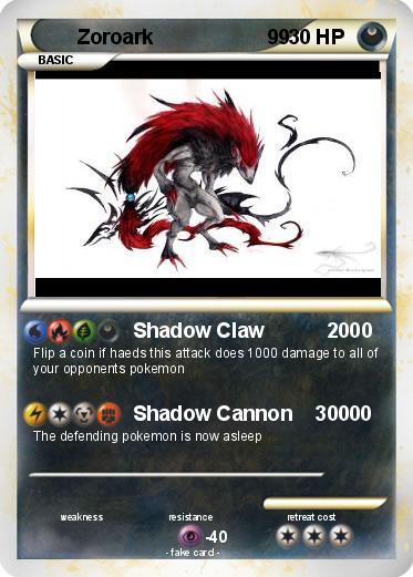 Zoroark Pokemon Card 1000 Damage Pokémon Zoroark 9...