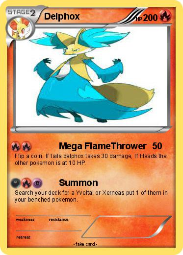 Pokémon Delphox 102 102 - Mega FlameThrower - My Pokemon Card