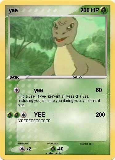 Poku00e9mon yee - yee - My Pokemon Card