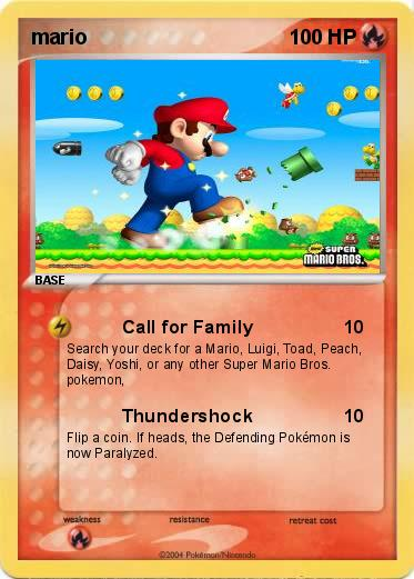 Pok mon mario 710 710 call for family my pokemon card - Mypokecard com ...