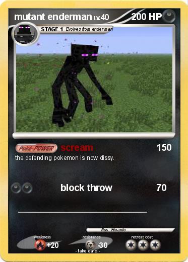 Pokémon mutant enderman 23 23 - scream - My Pokemon Card