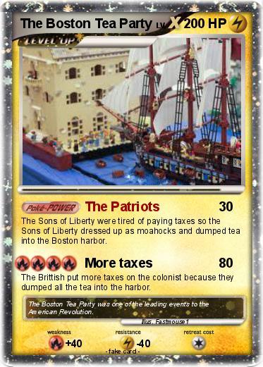 pok mon the boston tea party the patriots my pokemon card. Black Bedroom Furniture Sets. Home Design Ideas