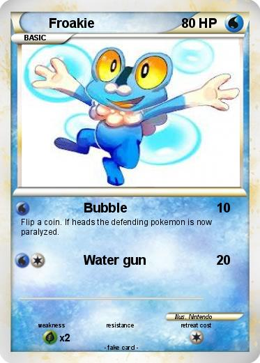 Pokémon Froakie 56 56 - Bubble - My Pokemon Card