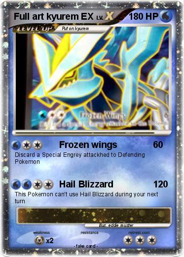 Pok mon full art kyurem ex frozen wings my pokemon card - Kyurem blanc ex full art ...