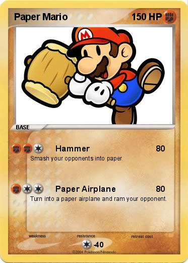 Pokémon Paper Mario 31 31 Hammer My Pokemon Card