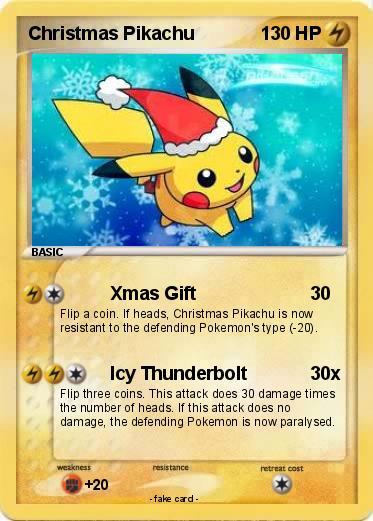 Pok 233 Mon Christmas Pikachu 12 12 Xmas Gift My Pokemon Card