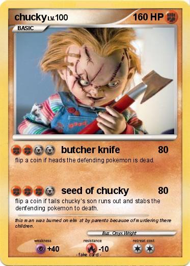 Pokémon chucky 108 108 - butcher knife - My Pokemon Card