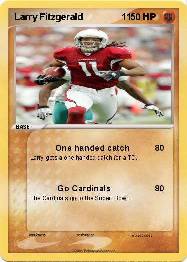 larry fitzgerald catches. Pokemon Larry Fitzgerald 11