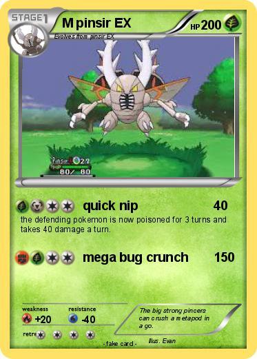 Pokémon M pinsir EX - quick nip - My Pokemon Card