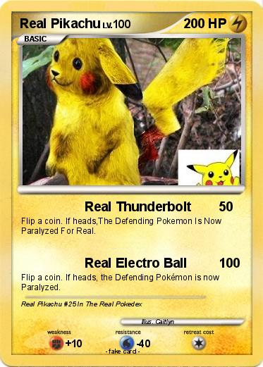 pok233mon real pikachu 31 31 real thunderbolt my pokemon
