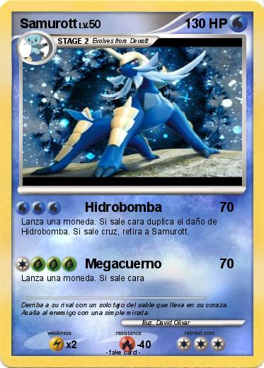 Pokémon Samurott 250 250 - Hidrobomba - My Pokemon Card