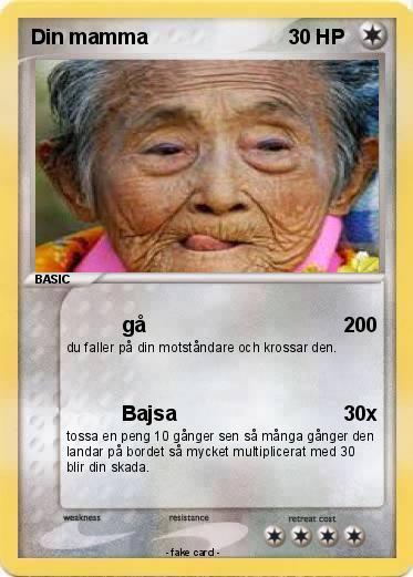 Pok 233 mon din mamma 9 9 g 229 my pokemon card