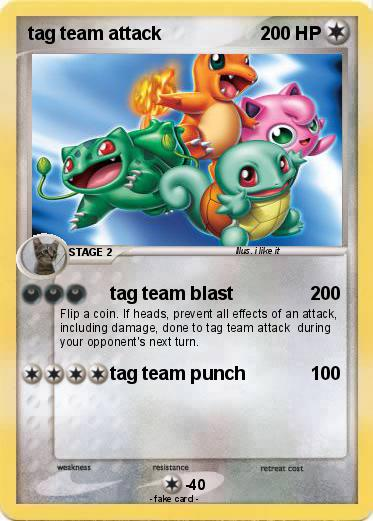 Pok 233 Mon Tag Team Attack Tag Team Blast My Pokemon Card