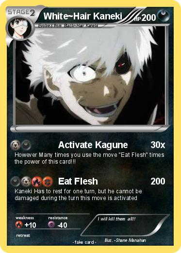 Pokemon White Hair Kaneki