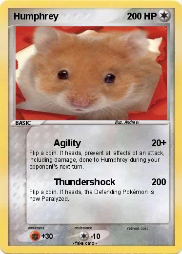 Pok 233 Mon Humphrey 19 19 Agility My Pokemon Card