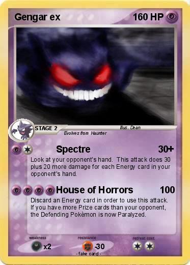 Pokémon Gengar ex 4 4 - Spectre - My Pokemon Card