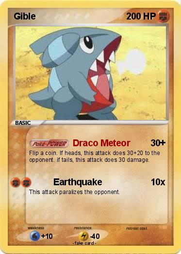 Pokémon Gible 42 42 - Draco Meteor - My Pokemon Card