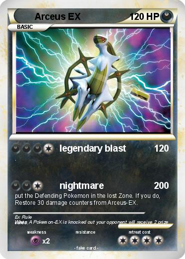 Pok mon arceus ex 461 461 legendary blast my pokemon card - Pokemon arceus ex ...