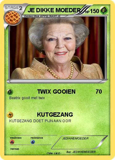 Pok 233 Mon Je Dikke Moeder 4 4 Twix Gooien My Pokemon Card