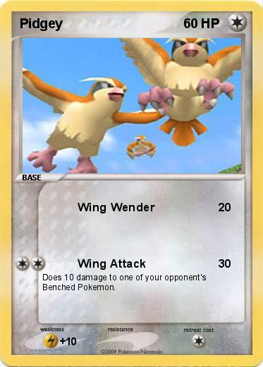 Pokémon Pidgey 3 3 - Wing Wender - My Pokemon Card