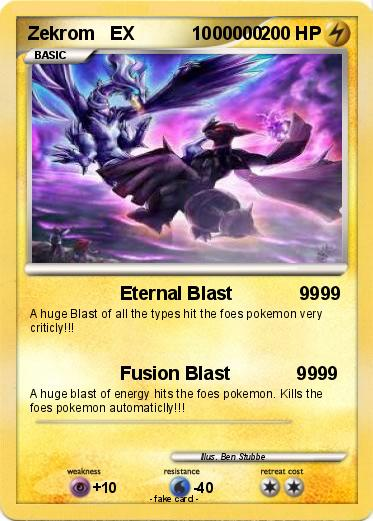 Pok 233 Mon Zekrom Ex 1000000 1000000 Eternal Blast 9999
