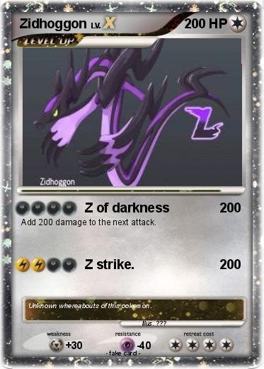 Pokémon Zidhoggon - Z of darkness - My Pokemon Card