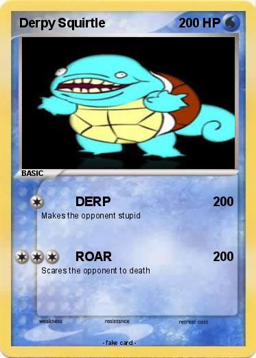 Pok mon derpy squirtle 14 14 derp my pokemon card - Derpy squirtle ...