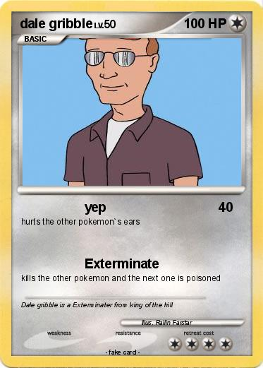 Pokémon dale gribble 3 3  yep  My Pokemon Card