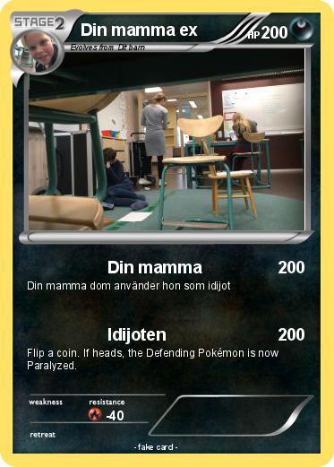 Din Mamma Pokemon Kort