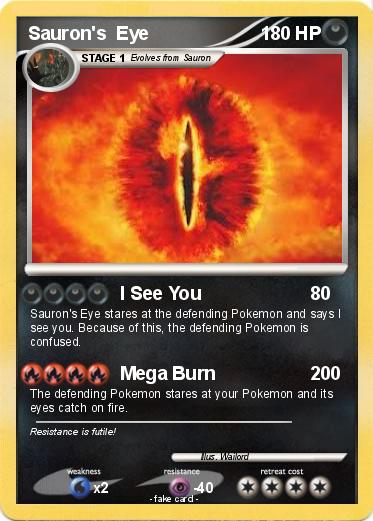 Pokémon Sauron s Eye 3 3 - I See You - My Pokemon Card